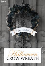 Halloween Wreath Tutorial by Diy Halloween Wreath With Black Crows Tutorial Darice