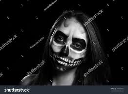 young woman day dead mask skull stock photo 157962815 shutterstock