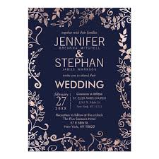 navy blue wedding invitations navy blue gold floral wedding invites zazzle