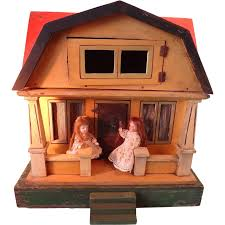 gottschalk red roof doll house with front porch from jackieeverett