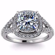 engagement rings cut images Cushion cut forever one moissanite diamond setting engagement ring jpg
