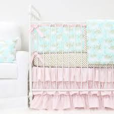 Aqua And Pink Crib Bedding by Charming Unicorns Crib Bedding Set By Caden Lane Rosenberryrooms Com