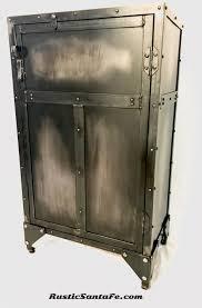 Nightstand Bookshelf Washed Black Industrial Cabinet Vintage Storage Cabinet Black