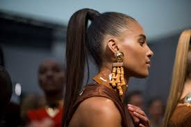 balmain models bring back the high ponytail vogue