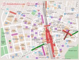 Osaka Train Map Shinjuku Station Area Map U2013 Shinjuku Station