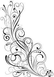 angle black swirl ornaments design vector vector floral vector