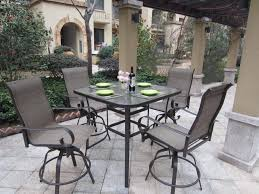 Patio High Top Table Dining Tables Outdoor Bar Height Dining Set Patio High Table
