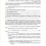 contractor agreement template template 4 contractor contract