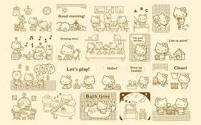 wallpaper hello kitty laptop windows 7 hello kitty theme