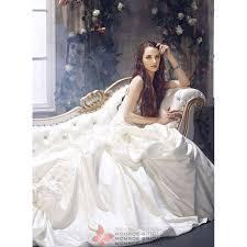 aden pickup satin wedding gown