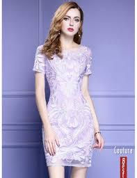 light purple short dress light purple short sleeve bodycon cocktail dress for wedding with