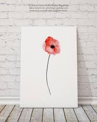 poppy home decor tirage d u0027art mur aquarelle coquelicot rouge par colorwatercolor