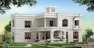 3400 sq ft colonial type flat roof home kerala home design and