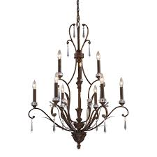 lighting 2184 6 3 9 light chandelier in burnt bronze