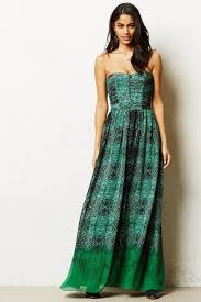 anthropologie vernalis maxi dress in green lyst