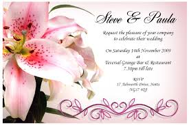 brilliant marriage invitation sample wedding invitation wording