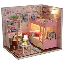 Diy Toy Box Kits by Amazon Com Cuteroom Dollhouse Miniature Diy House Kit Cute Room