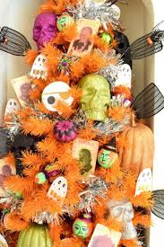 decorated halloween trees how to decorate an orange christmas tree for 5 different holidays