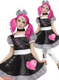 Zombie Halloween Costume Kids Girls Broken Doll Costume Girls Zombie Halloween Fancy Dress Kids
