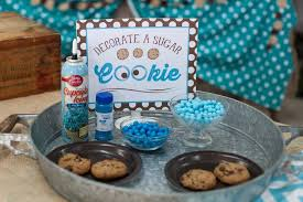 cookie monster table decorations cool presentation on table for guest full of blue themed ideas in