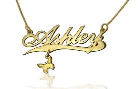 Name Pendant Necklace Gold Plated Name Necklace Fashion Jewelry Persjewel