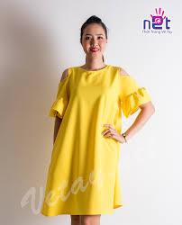 dam bau đầm bầu vàng rớt vai đầm bầu trang phục bầu đồng giá 99k 299k