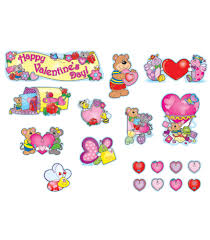 valentine u0027s day mini bulletin board set grade pk 5 carson