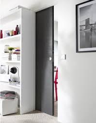 porte coulissante separation cuisine porte coulissante en mdf couleur gris anthracite entre cuisine et