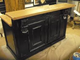 repurposed kitchen island splendid repurposed kitchen island with black raised panel cabinet