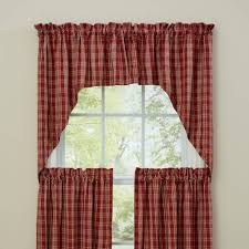 Green And White Gingham Curtains by Country Swags Piper Classics