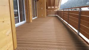 balkon dielen wpc balkon mit eco deck classic diele in der farbe walnuss wpc