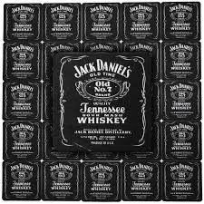 Jack Daniels Gift Set Jack Daniels Whiskey Home Bar Pub Beer Mats Coasters Pack Of 25