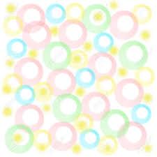baby gift wrap pastel fuzzy circles on white background baby gift wrap stock