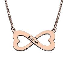 plated name necklace personalized heart infinity name necklace 18k gold