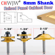 Cabinet Door Bits Aliexpress Buy 3pc 8mm Shank High Quality Raised Panel