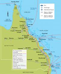 map of queensland queensland railways map showing ports and rail networks