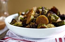roasted brussels sprouts with pistachios and cipollini onions