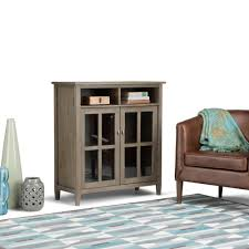 Simpli Home Warm Shaker Tv Stand Catlin Easel Media Stand In Weathered Oak By Arhaus Havenly