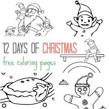 12 free christmas colouring pages kids
