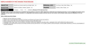 member of pre opening team cover letter u0026 resume