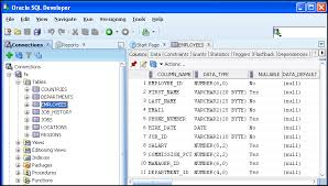 how to view table in sql understanding the sql developer user interface