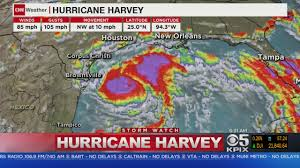 New Orleans Weather Map by Hurricane Harvey Intensifies As Storm Approaches Texas Cbs San