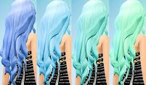 sims 4 blue hair sims 4 hairs ohmyglobsims pastel hair recolors david sims long