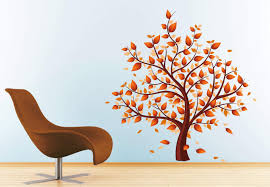 autumn tree wall decals lovely decoration