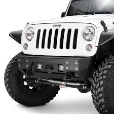 jeep winch bumper fab fours jeep wrangler 2007 2017 full metal jacket stubby