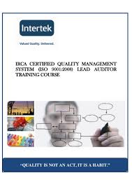 iso 9001 lead auditor course training irca approved
