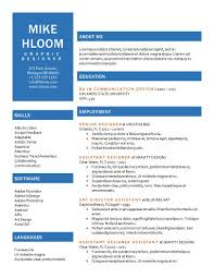 Free One Page Resume Template One Page Resume Template Free Download One Page Resume Templateone