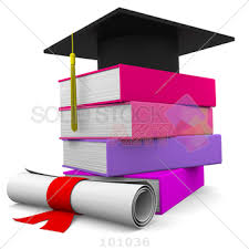 pink graduation cap stock photo of black graduation cap on top of stack of brightly
