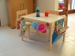 Kids Table With Storage by Cream Particle Wood Kids Work Station Desk With Colorful Hanging