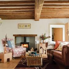 country style living rooms with beams welcoming country style